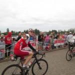 Photo de Stéphane Blondel sur le parcours vélo de l'Ironman Vichy
